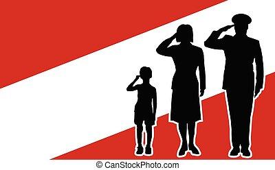 オーストリア, 兵士, 家族, 挨拶