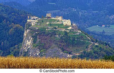 オーストリア, 城, griffen, 光景