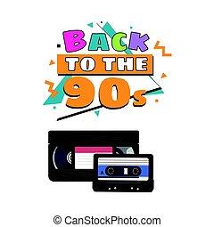 オーディオ, ビデオ, vhs, 90s, オーディオテープ, カセット