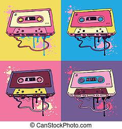 オーディオ, レトロ, カセットテープ