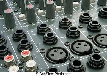 オーディオ, 混合の 机