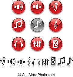 オーディオ, icons.