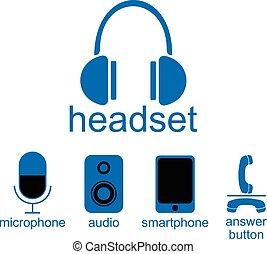 オーディオ, smartphone, ヘッドホン, マイクロフォン