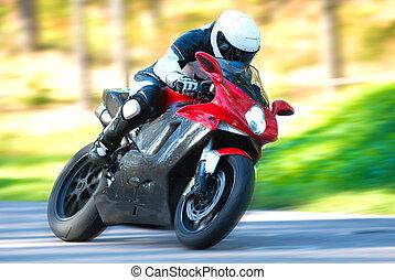 オートバイ乗り手