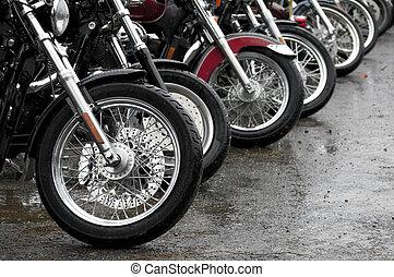 オートバイ, 横列