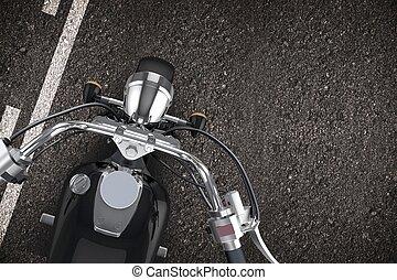 オートバイ, 道