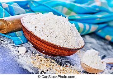 オート麦, 小麦粉