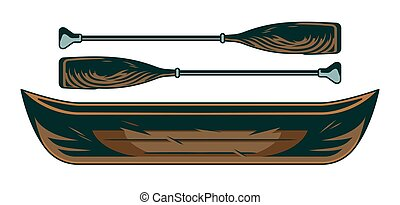 オール, 恋人, 型, 木製のボート, カヌー