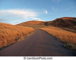 オール, california., 方法, chatsworth, 山