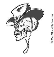 カウボーイ, 頭骨, 帽子