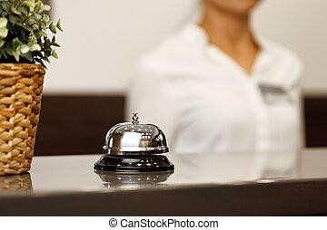 カウンター, 机, ホテルサービスベル, 前部