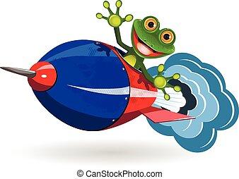 カエル, ロケット