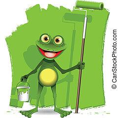 カエル, 画家