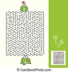 カエル, 迷路, ゲーム, 答え