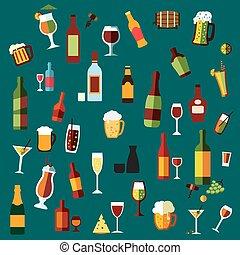 カクテル, 平ら, 飲料, アルコール