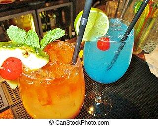カクテル, 礁湖, 青, 別, tequila, バー, オルガスム, 日の出, 3, mudslide