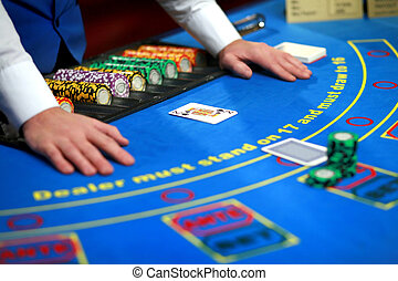 カジノ, ポーカー, テーブル