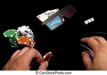 カジノ, holdem, オンラインで, テキサス, 3d