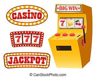 カジノ, jackpot, 777, ギャンブル, 幸運, sevens