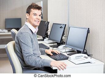 カスタマーサービス, オフィス, 仕事, 代表者