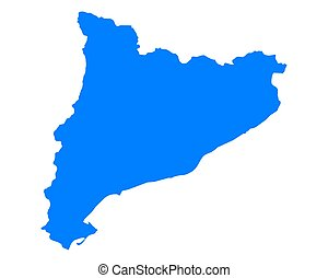 カタロニア, 地図