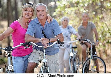 カップル, 乗馬の自転車, 一緒に, ∥(彼・それ)ら∥
