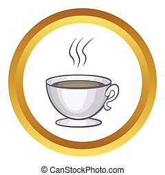 カップ, コーヒー, ベクトル, アイコン