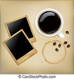 カップ, 写真, コーヒー