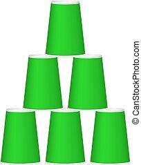 カップ, 緑の錐体, デザイン