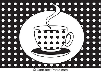 カップ, tea(coffee).