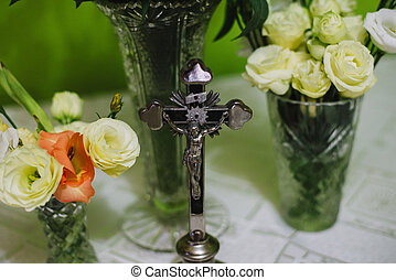 カトリック教, キリスト, の上, 交差点, イエス・キリスト, 終わり, 家