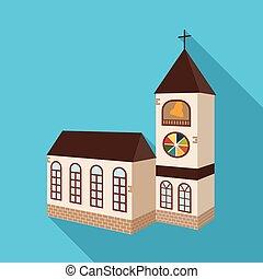 カトリック教, シンボル, オブジェクト, web., 隔離された, コレクション, シンボル。, 宗教, 教会, 株