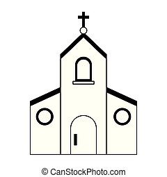 カトリック教, シンボル, 黒, 白, 教会