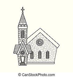 カトリック教, セット, stock., シンボル。, ベクトル, デザイン, 教会, イースター, アイコン