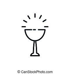 カトリック教, デザイン, シンボル, カップ, キリスト教徒, ベクトル