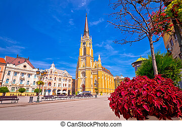 カトリック教, 広場, novi, 自由, 悲しい, 大聖堂, 光景