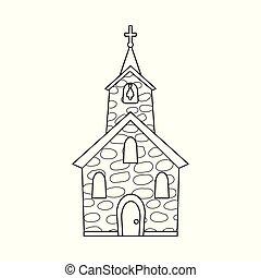 カトリック教, 霊歌, stock., オブジェクト, 隔離された, コレクション, シンボル。, ベクトル, 教会, アイコン