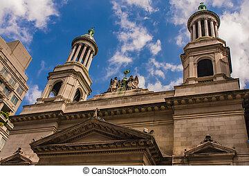 カトリック教, baptiste, st. 。, ローマ人, ヨーク, 教会, 新しい, ジーン