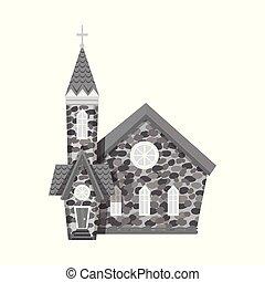 カトリック教, stock., オブジェクト, 隔離された, コレクション, シンボル。, ベクトル, 教会, イースター, アイコン