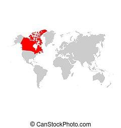 カナダの地図, 世界
