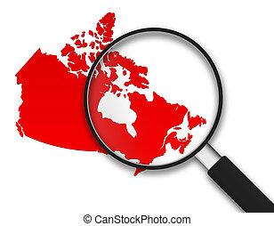 カナダ, ガラス, -, 拡大する