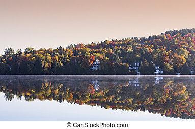カナダ, ケベック, lac-superieur, mont-tremblant
