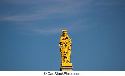 カナダ, バシリカ, notre 貴婦人, オタワ, 像, 大聖堂