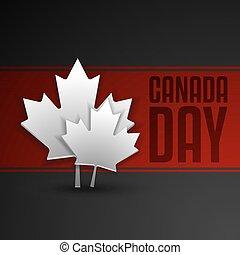カナダ, フォーマット, ベクトル, 日, カード, 幸せ
