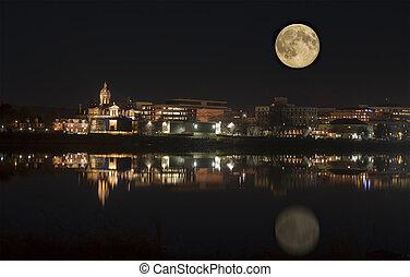 カナダ, ブランズウィック, 月光, fredericton, 新しい