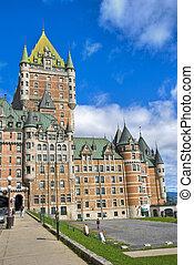 カナダ, ホテル, de, ケベック, frontenac