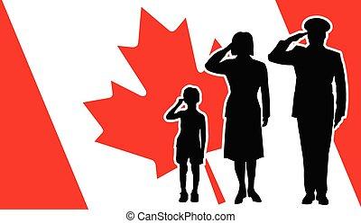 カナダ, 兵士, 家族, 挨拶