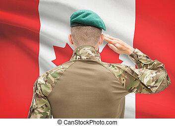 カナダ, 力, シリーズ, 国民, -, 旗, 背景, 概念, 軍