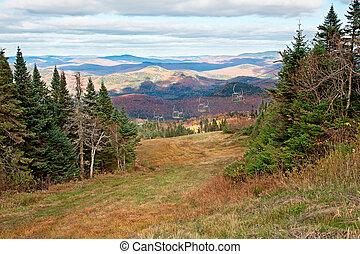 カナダ, 季節, 上, ケベック, 秋, mont-tremblant