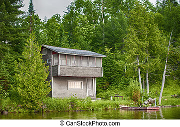 カナダ, 木製の小屋, 湖 オンタリオ